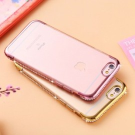 Funda TPU con diamante 电镀带钻 iPhone 7 Plus