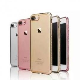 Funda TPU con diamante 电镀带钻 iPhone 7