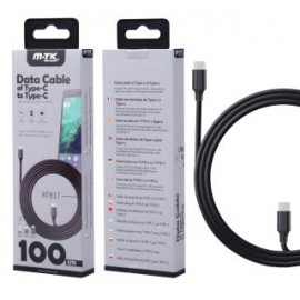Cable de Datos Turn Type-C a Type-C, Alta velocidad con Soporte PD