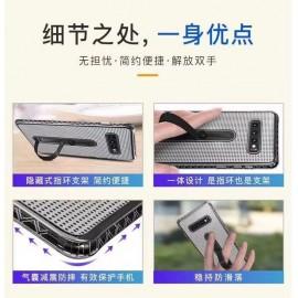 Funda silicona de malla antigolpe con soporte SM A10