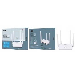 Router de Wifi inalambrico con 4 antenas, 4 Puertos LAN y 1 Puerto WAN, 300 Mbps