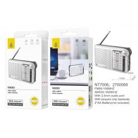 Radio AM/FM con Antena, 3.5 MM Conector, Con Correa Y Clip De Sujeción, Tamaño 11.5*6.5*3cm