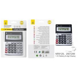 Calculadora de 8 dígitos con Pantalla grande de LCD, Batería 1,5V, Tamaño 15 x 11,5 cm