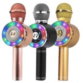 Microfono Karaoke con luz led inalámbrico