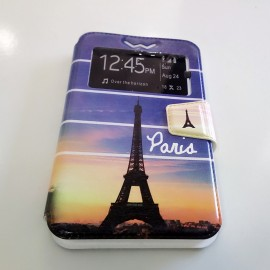 "Funda de movil multiuso flip cover con dibujo 4.3""-- 4.8"""