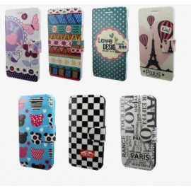 "Funda de movil multiuso flip cover con dibujo 3.8""-- 4.3"""