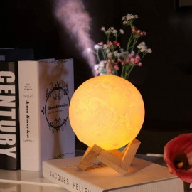 Humificador 3D luna, luz led
