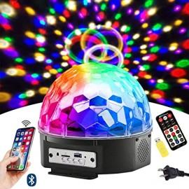Disco DJ luz de escenario Bluetooth LED