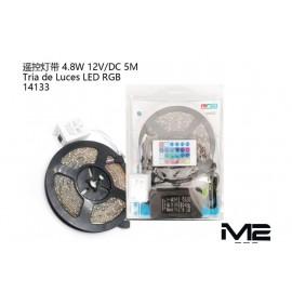 Tiras de luces con mando 4.8W, 12V, 5CM
