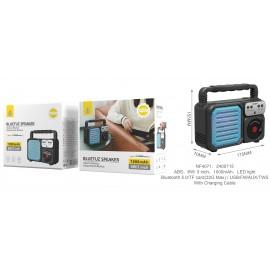 Altavoz Retro Bluetooth 5.0 con Funcion TWS Beauty, 6W con Luz LED, BTS/FM/USB/TF(32G Max), Bateria 1000mAh