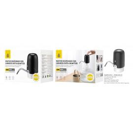 Dispensador de agua para garrafas con adaptador,Recargable con cable USB 50CM, con Tubo de Silicona de 50cm, 1,5L/5, 7L/10L