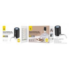 Dispensador de agua para garrafas con adaptador,Recargable con cable USB 50CM, Tubo de Silicona de 50cm, 1,5L/5,7L/10L