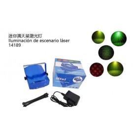 Luz escenario Laser con trípode, 4 modos