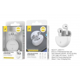 Auriculares Bluetooth TWS Grimes, Control Tactil, Mano Libre, 6 Horas de Reproduccion,230mAh