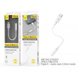 Adaptador Audio TypeC a 3,5mm Audio ,M-H